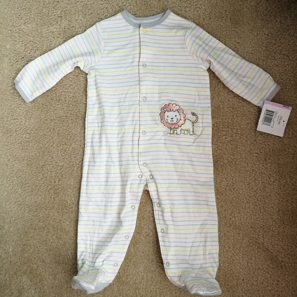 Little Me Other - Baby footed sleeper one piece bodysuit footies